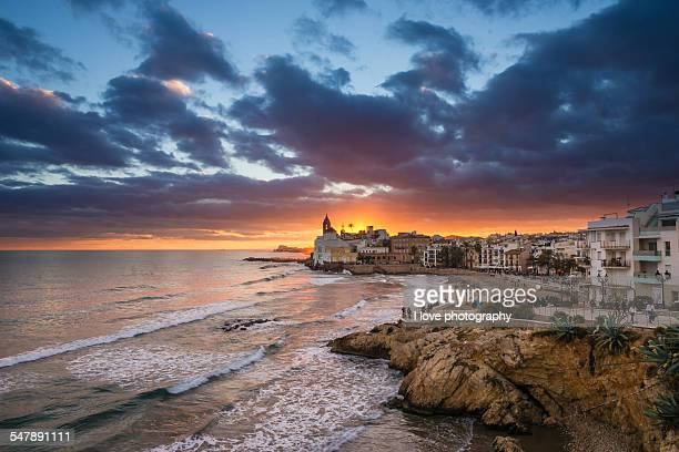 Sitges sunset, Spain