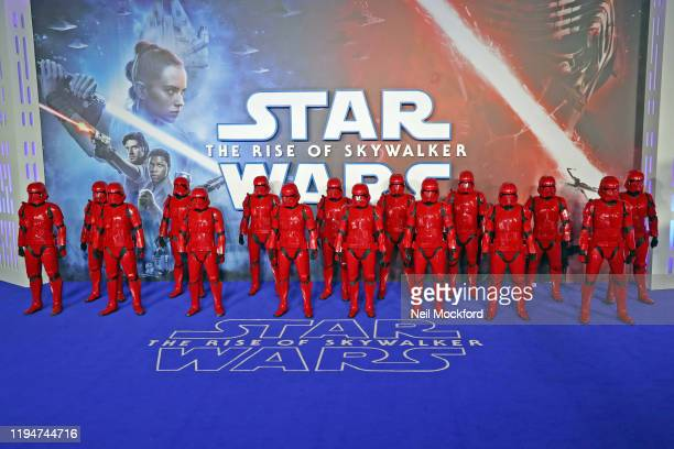 Sith Troopers at the Star Wars The Rise of Skywalker European Premiere at Cineworld Leicester Square on December 18 2019 in London England