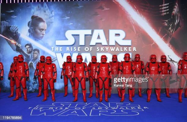 Sith Troopers attend the Star Wars The Rise of Skywalker European Premiere at Cineworld Leicester Square on December 18 2019 in London England
