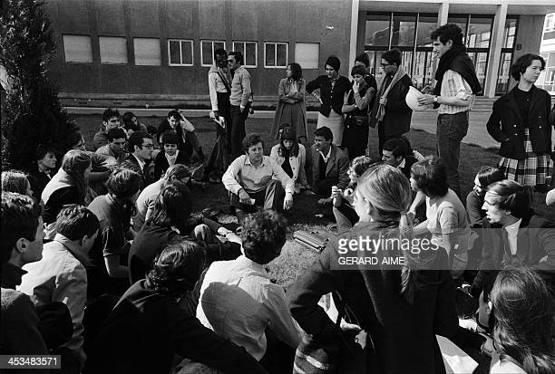 Sitin at Nanterre university with Daniel CohnBendit in the middle in Nanterre France on March 29 1968