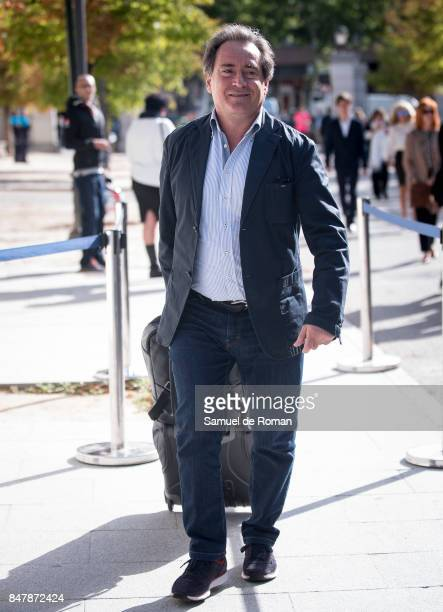 Sito Pons arrives to the Funeral Tribute For Angel Nieto in Madrid on September 16 2017 in Madrid Spain