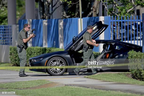 A BMW sits idle after reports of a shooting in Deerfield Beach involving Broward rapper XXXTentacion on Monday June 18 2018 The celebrity news site...