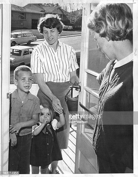 OCT 26 1965 OCT 27 1965 Sitters Club 10 Years Old Mrs David Hanson 4511 S Galapago St leaves her two children David Jr and Susie with Mrs Patrick...