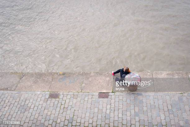 sitting along the quay - scheldt river stock pictures, royalty-free photos & images