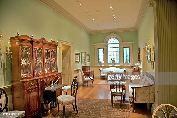Sitting area with American furniture, former country house of Henry Francis du Pont, Winterthur, Delaware