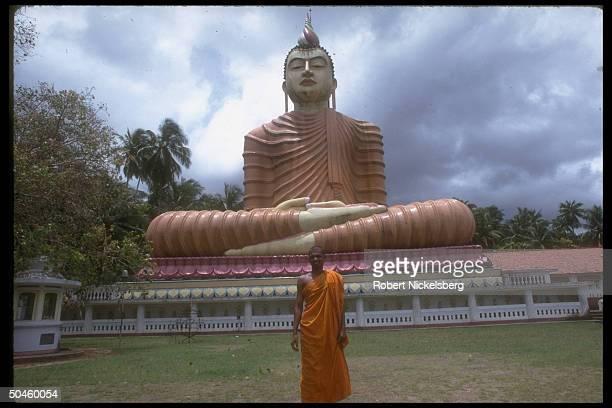Sitting Buddha, 165 feet high, at Wewurukannala Buddhist Temple.
