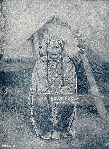 Sitting Bull Hunkpapa Lakota Chief Book Photograph from ÒIndian Horrors or Massacres of the Red MenÓ by Henry Davenport Northrop 1891