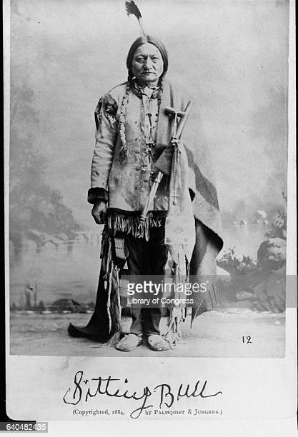 Sitting Bull Sioux chief who led his people to victory over General Custers Cavalry at the Battle of Little Bighorn