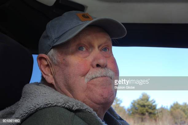 Sitting in his son's Jeep Chuck Lord talks about a nearfatal tractor accident he suffered in 2013 at the family's Carver Hill Farm in Stow MA on Jan...