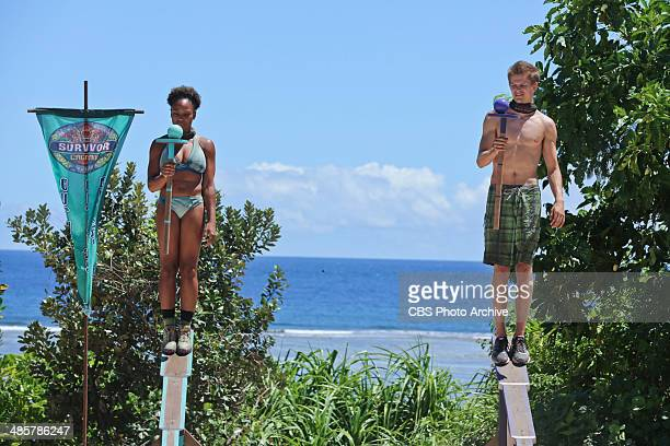 Sitting in My Spy Shack Latasha Tasha Fox and Spencer Bledsoe compete for Immunity during the ninth episode of SURVIVOR CAGAYAN Wednesday April 23 on...