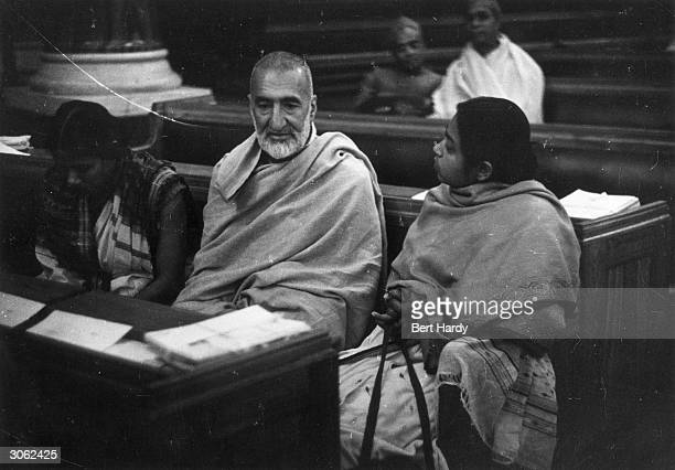Sitting in the Constituent Assembly after independence is Khan Abdul Gaffar Khan known as 'The Frontier Gandhi' for his leadership in the North West...