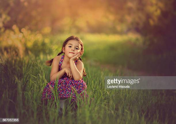 Sitting In The Grass - Little Girl