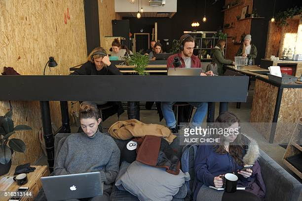 Sitting in the sofa or at a desk Gab is a popular place for selfemployed as seen on March 3 2016 in downtown Montreal A new kind of coffee shop is...
