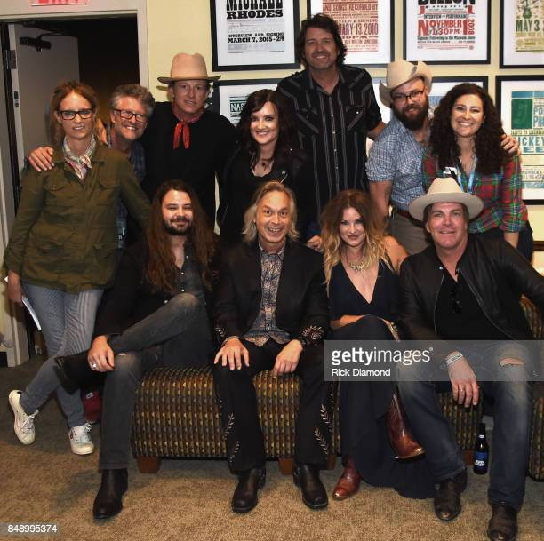 Sitting L/R Brent Cobb Jim Lauderdale Elizabeth Cook and Jack Ingram Standing L/R Michelle Aquilato Americana Jed Hilly Americana Chuck Mead Brandy...