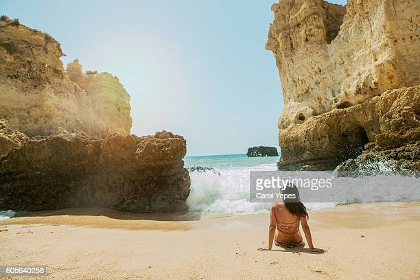 sitting on a beach,dona ana,lagos - girls sunbathing stock pictures, royalty-free photos & images