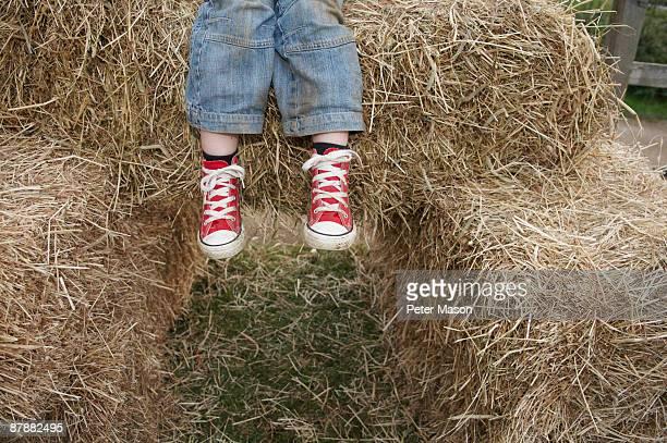 Sitting on a Hay Bale