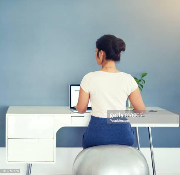 Sitting pretty at work