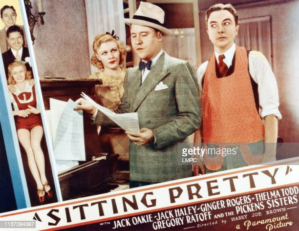 Sitting Pretty lobbycard left top to bottom Jack Haley Jack Oakie Ginger Rogers center from left Ginger Rogers Jack Oakie Jack Haley 1933
