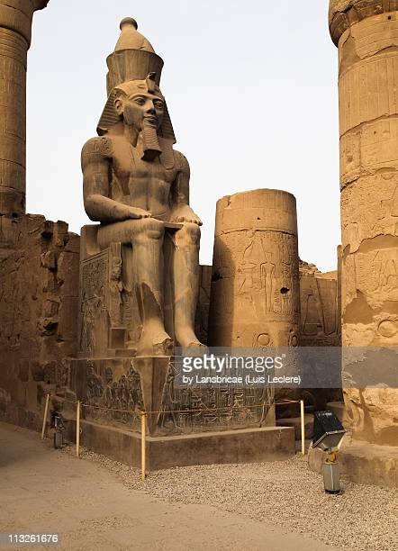 Sitting Ramesses II Colossus inside Luxor Temple