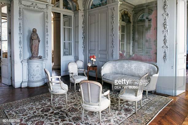 Sitting room in Chateau de Craon Pays de la Loire France 18th century