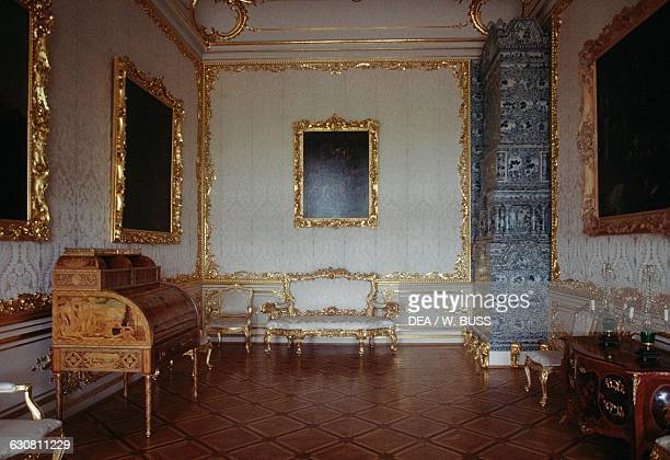 Sitting room in the Catherine Palace 17521756 Tsarskoye Selo Pushkin near Saint Petersburg Russia