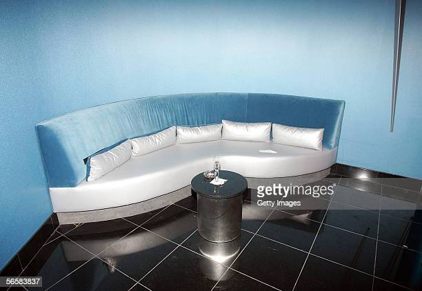 A sitting room is shown during the grand opening of the Seamless Adult Ultra Lounge early December 18 2005 in Las Vegas Nevada