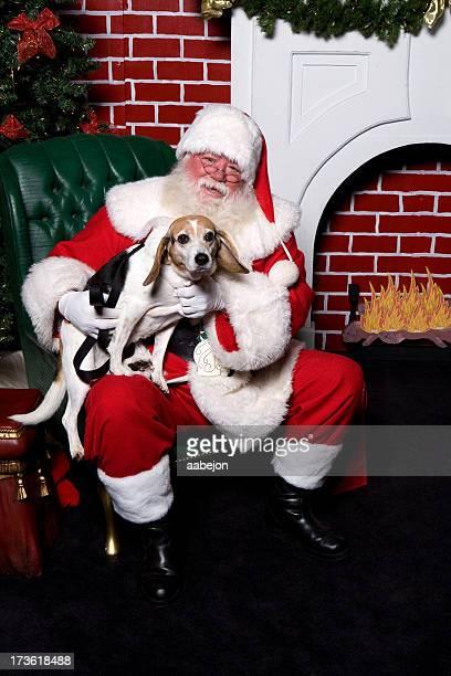 Sentado com Santa
