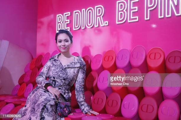 Sitty Salea attends Dior Addict Stellar Shine launch at Layers 57 on April 04 2019 in Seoul South Korea