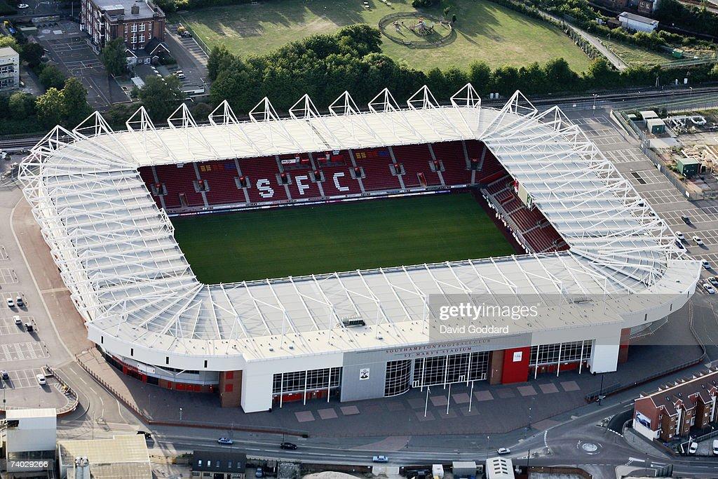 St Mary's Stadium, Southampton: An Aerial View : News Photo