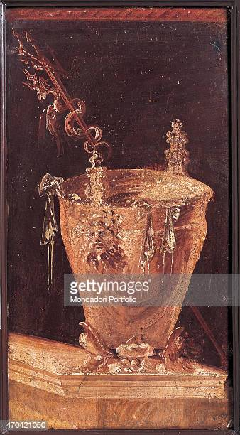 Situla by unknown artist c 60 1st Century BC ripped fresco 77 x 41 cm Italy Campania Naples National Archaeological Museum Room LXVII inv sn7 Whole...