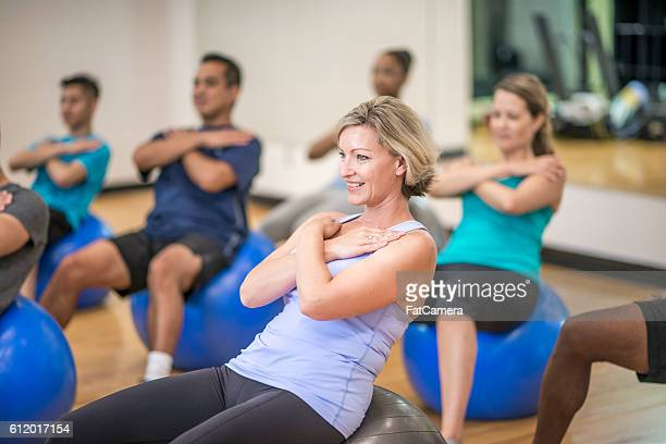 Sit-Ups on an Exercise Ball