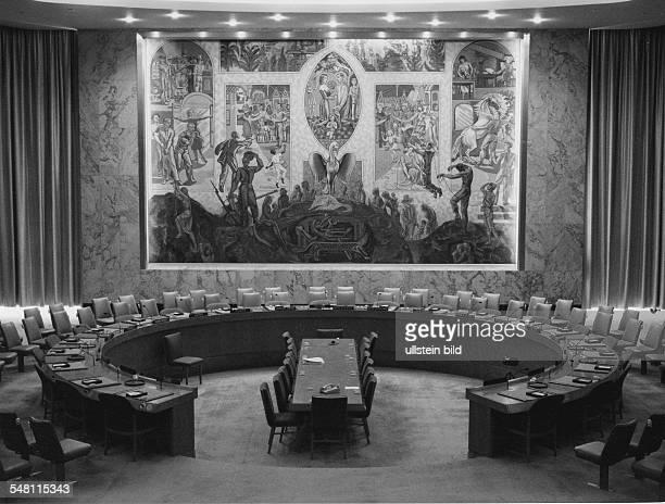 Sitzungssaal des UN Sicherheitsrates in New York 031997