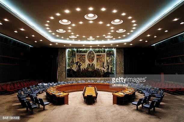 Sitzungssaal des UN Sicherheitsrates in New York September 1998