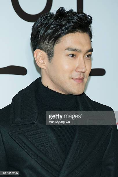 Siwon of South Korean boy band Super Junior attends The Attorney VIP screening at COEX Mega Box on December 11 2013 in Seoul South Korea