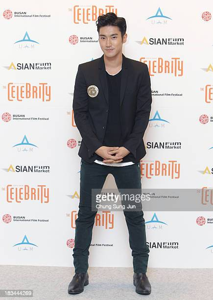Siwon of Super Junior arrives for the United Asian Film Night at the Chosun hotel during the 18th Busan International Film Festival on October 6 2013...