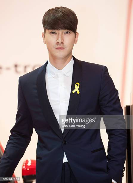 SiWon of Super Junior attends the Busan International Motor Show 2014 Audi Korea press day at BEXCO on May 29 2014 in Busan South Korea