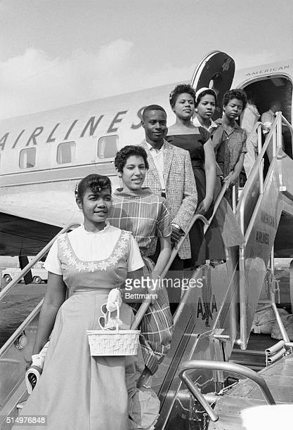 Six black children who attended Little Rock's Central High School earlier in 1958 are seen here in this 8/22/58 photo The NAACP asked the Supreme...