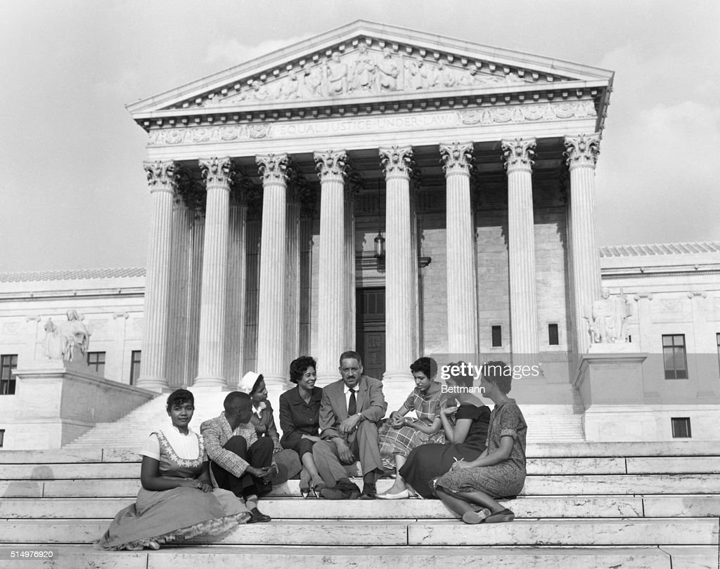 Little Rock Children at Supreme Court for Integration : News Photo