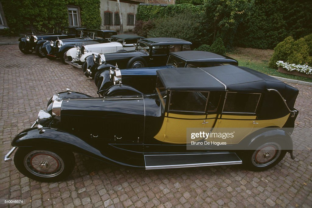 six bugatti royales belonging to the schlumpf collection parked in news photo getty images. Black Bedroom Furniture Sets. Home Design Ideas