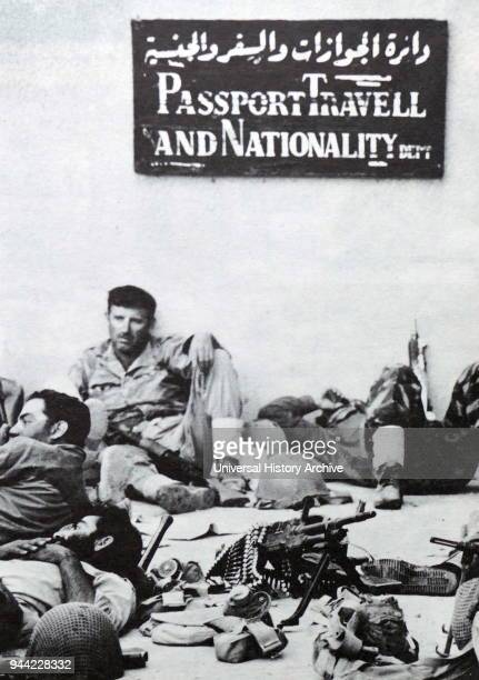 Six Day War Rafah Gaza Israeli soldiers at rest during a break in the fighting in Rafah a Palestinian city and refugee camp in the southern Gaza Strip