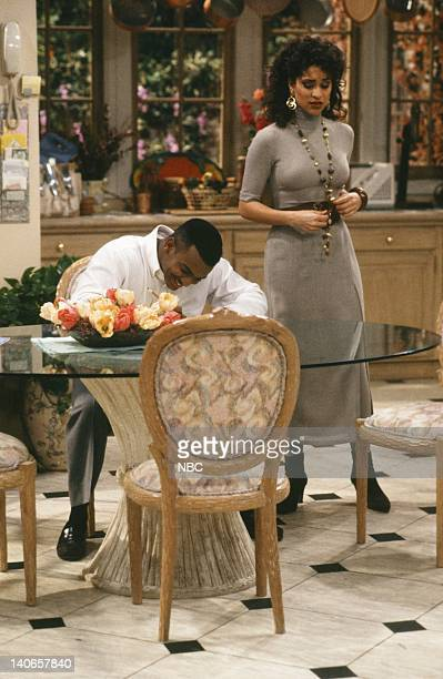 AIR Six Degrees of Graduation Episode 24 Pictured Alfonso Ribeiro as Carlton Banks Karyn Parsons as Hilary Banks Photo by Danny Feld/NBCU Photo Bank