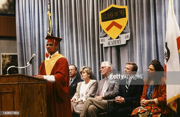 AIR 'Six Degrees of Graduation' Episode 24 Pictured Alfonso Ribeiro as Carlton Banks William Cort as Headmaster Wallace Thorvald Rosalind Cash as Mrs...