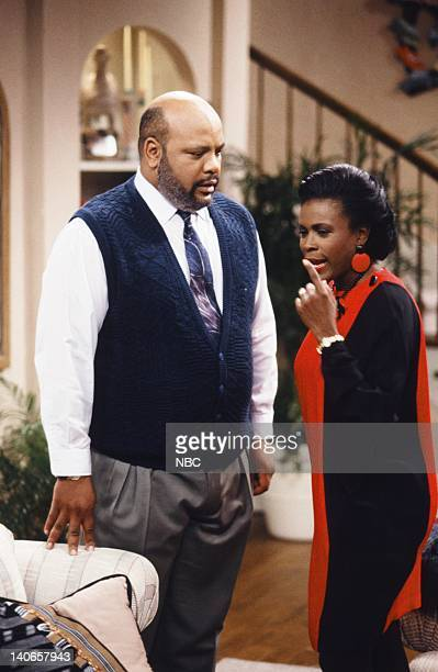 AIR Six Degrees of Graduation Episode 24 Pictured James Avery as Philip Banks Janet Hubert as Vivian Banks Photo by Danny Feld/NBCU Photo Bank