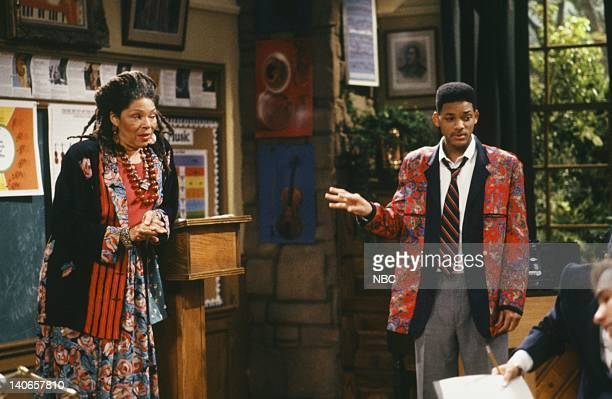 AIR Six Degrees of Graduation Episode 24 Pictured Rosalind Cash as Mrs Bassin Will Smith as William 'Will' Smith Photo by Danny Feld/NBCU Photo Bank