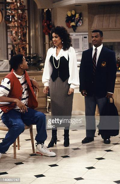 AIR Six Degrees of Graduation Episode 24 Pictured Will Smith as William 'Will' Smith Karyn Parsons as Hilary Banks Alfonso Ribeiro as Carlton Banks...