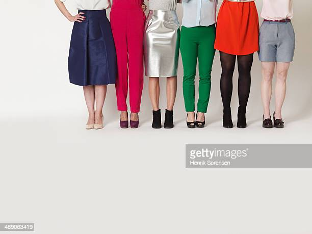 Six different women's legs