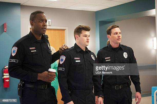 SIRENS Six Feet Over/Under Episode 210 Pictured Kevin Daniels as Hank St Clare Kevin Bigley as Brian Czyk Michael Mosley as Johnny Farrell