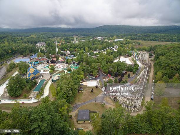 Six Flags Great Escape aerial upstate New York.