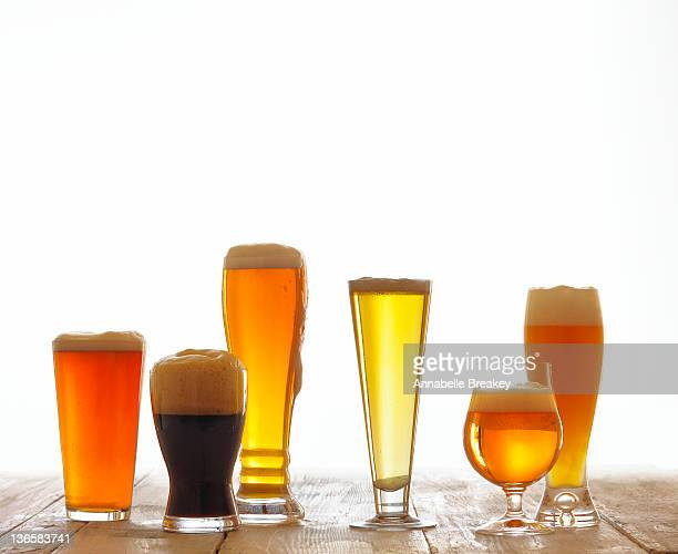 Six Glasses of Frothy Beer