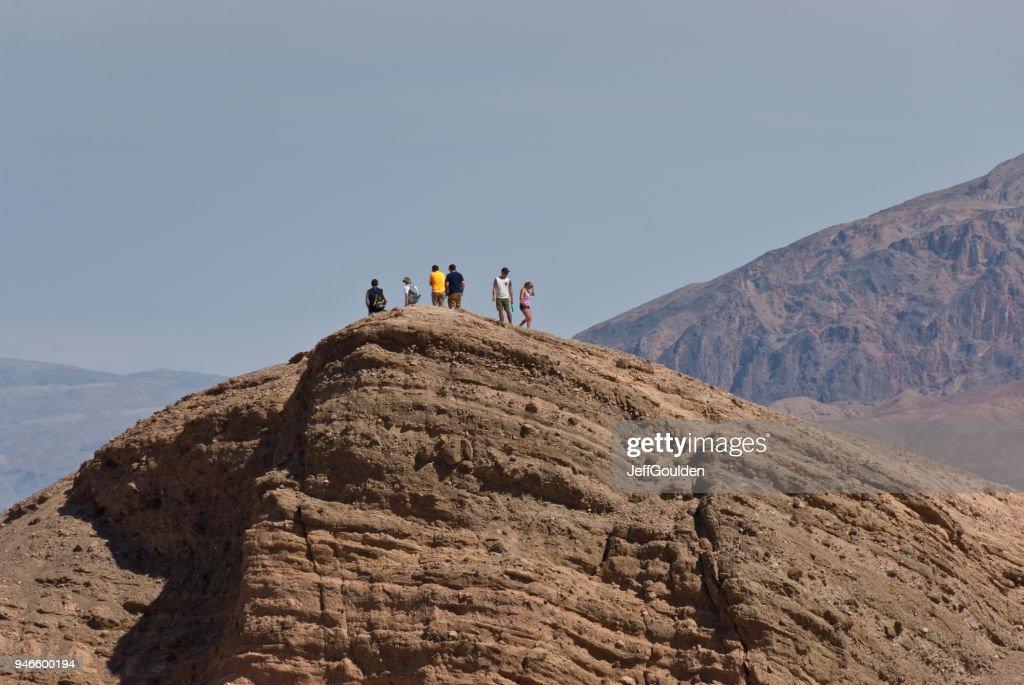Hikers on Zabriskie Point : Stock Photo